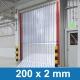 PVC Lamellenvorhang transparent