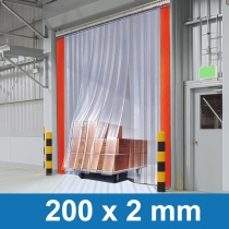 Streifenvorhang transparent Glasklar