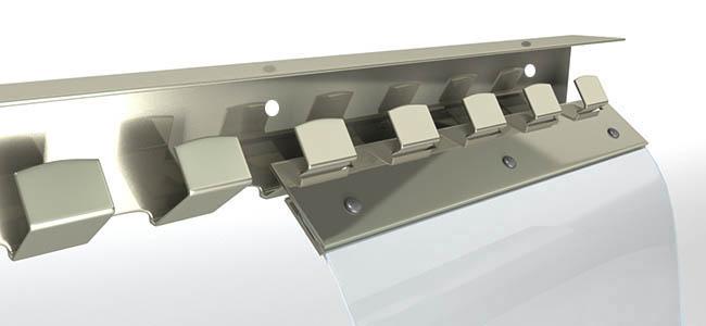 PVC Lamellenvorhang Aufhangleiste
