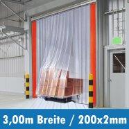 PVC Streifen 200x2mm 3,00m Breite