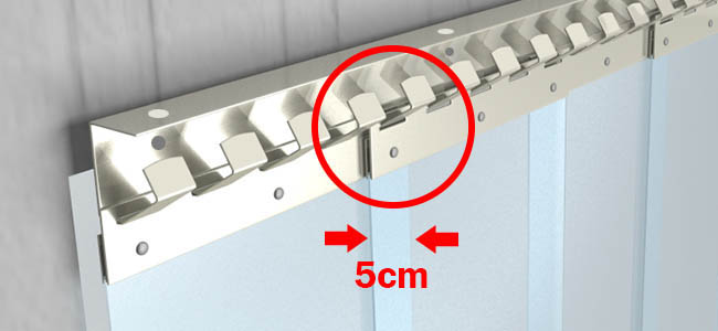 PVC Streifen Überlappung