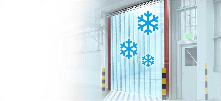 Kühlhaus Vorhang Kühlzelle als Industrietor