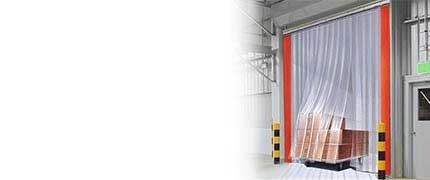 PVC Streifenvorhänge kaufen transparent durchsichtig